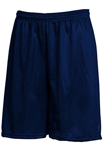 Hat and Beyond IH Men Mesh Shorts with Pockets Lightweight Plain Basketball Workout Jersey Fitness Gym (X-Large, 1ih01_Navy)
