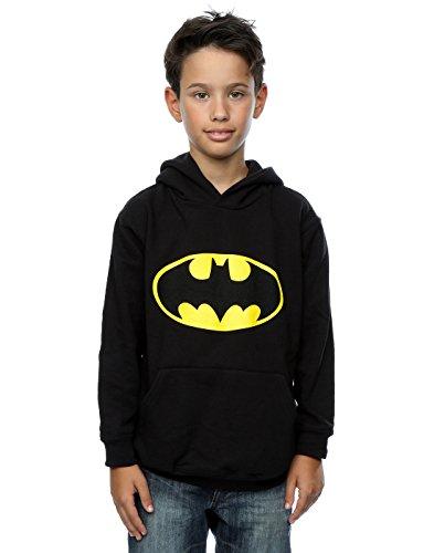 DC Comics Boys Batman Logo Hoodie 7-8 Years Black