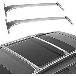 LED Kingdomus Cross Bars Roof Racks, Cargo Carrier Luggage Rack for 2014-2019 Nissan Rogue, Crossbars Cargo Max Load 150 LBS