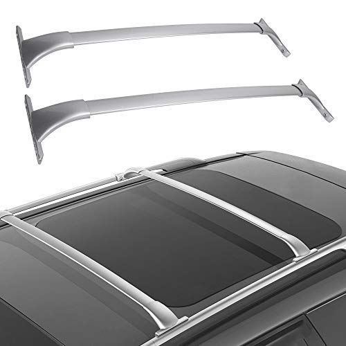 (LED Kingdomus Cross Bars Roof Racks, Cargo Carrier Luggage Rack for 2014-2019 Nissan Rogue, Crossbars Cargo Max Load 150 LBS)