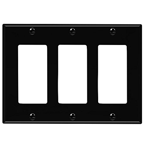 ENERLITES Decorator Light Switch or Receptacle Outlet Wall Plate, Size 3-Gang 4.50