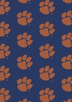Clemson Tigers Horizontal 3 10x 5 4 Team Spirit Area Rug