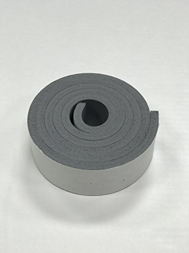 3//16 Thick x 12 Wide x 12 Long Low Compression Set Silicone Foam Sheet with High Temp Adhesive