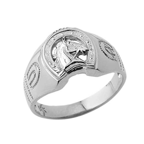 Western Horseshoe Ring - Unique Sterling SilverLucky Horseshoe Statement Ring (Size 5.5)