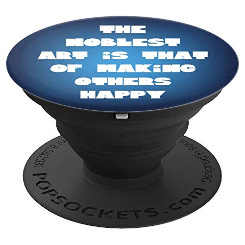 Circus Showman Ringmaster Quote Make Others Happy Blue - PopSockets Grip and Stand for Phones and Tablets