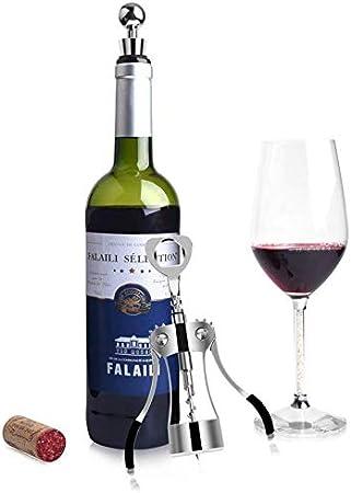 AILSAYA ala Sacacorchos, Abridor De Botellas De Aleación De Zinc De Primera Calidad ala Sacacorchos del Vino con Las Botellas Abrelatas De Múltiples Funciones para Las Bodegas
