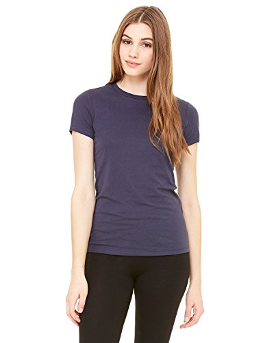 6000 Bella Jersey Knit Tee - Product of Brand Bella + Canvas Ladies Jersey Short-Sleeve T-Shirt - Navy - XL - (Instant Savings of 5% & More)