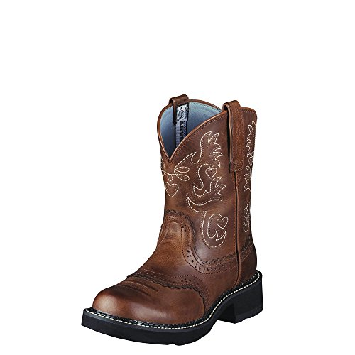 (ARIAT 10000860 Women's Fatbaby Saddle Western Boot, Russet Rebel - 8 C)