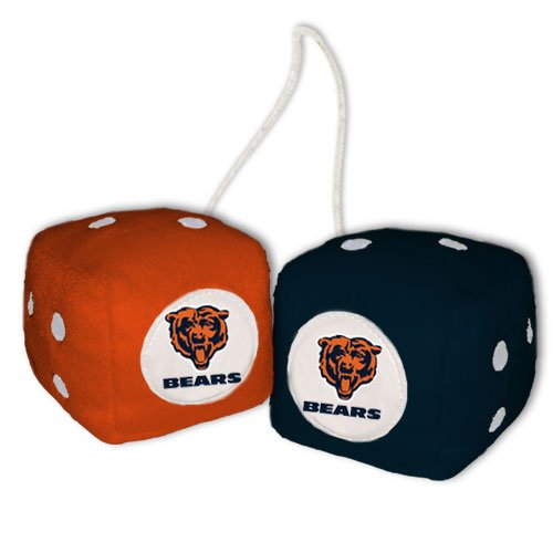 NFL Chicago Bears Fuzzy Dice,one black, one orange w/ - Malls Outlet Chicago