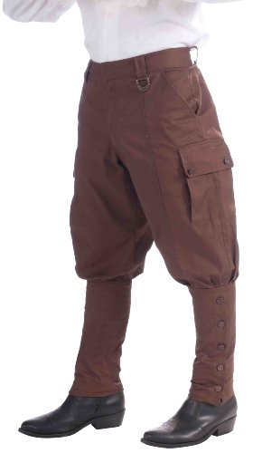 [Forum Novelties Steampunk Jodhpur-Style Pants, Brown, One Size] (Steampunk Costumes Men)