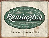 (13x16) Remington Guns Rifles Hunting In All Weather Logo Distressed Retro Vintage Tin Sign , 16x12