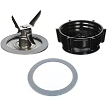 Blendin Ice Crusher Blade with Replacement Jar Base Cap, 2 Rubber O Ring Sealing Ring Gaskets Combo,Fits Oster