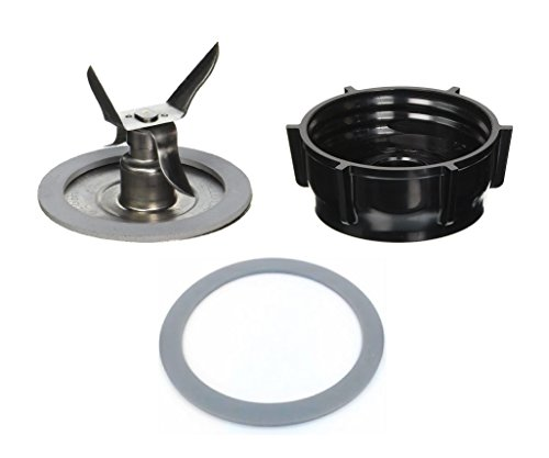 Blendin Ice Crusher Blade with Replacement Jar Base Cap, 2 Rubber O Ring Sealing Ring Gaskets Combo,Fits Oster - Osterizer Blender Jar