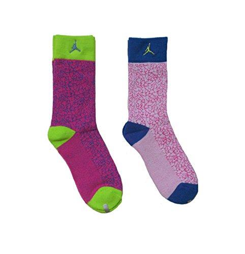 Crew Spandex Uniform - Nike 2 Pairs/Pack Kids High Crew Socks, Bright Neon Colors, 5Y-7Y