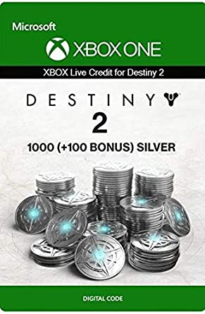 Xbox Live Tarjeta Regalo para Monedas de Plata de Destiny 2 ...