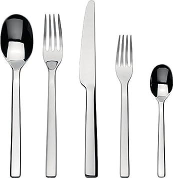 Alessi Ovale Dessertgabel Silber 6-Einheiten Edelstahl 17 x 4 x 2.5 cm