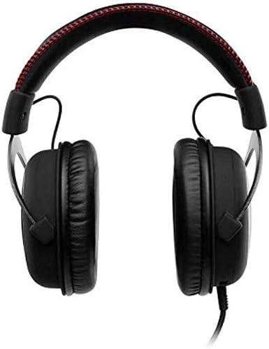 HNSYDS 黒のケーブルゲームイヤホン快適に着用するソフト防音良いのイヤーマフ耳を圧迫しません ゲーミングヘッドセット