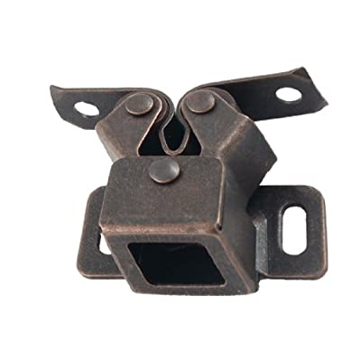 """uxcell Copper Tone Cabinet Closet Cupboard Door Double Ball Latch Catch 1.6"""""""