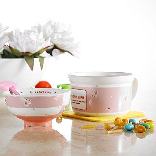 Panbado Porcelain Cute Cartoon Noodles Bowl Novelty Ceramic