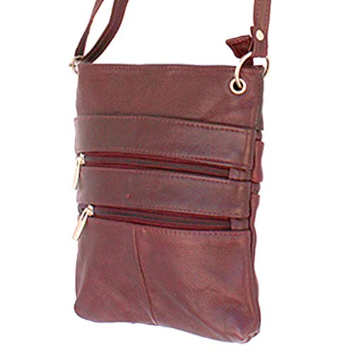 Silver Cross Wine Genuine Handbag Shoulder Travel Body Leather Purse Fever ABqrAH