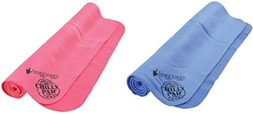 Frogg Toggs Chilly Pad Cooling Towel,One Size,Hot Pink & Sky