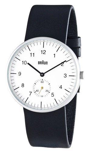 Braun Men's Analog Wrist Watch, White Face 38 mm