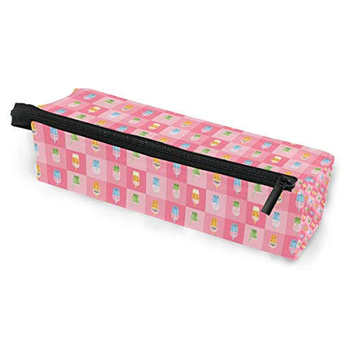Vector Bubble Tea Sunglasses Soft Case Zipper Eyeglass Case Storage Stationery Box