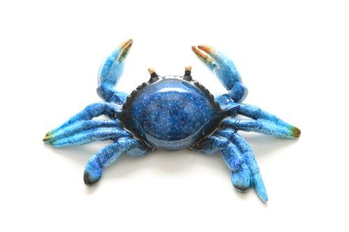Glazed Blue Crab Figurine