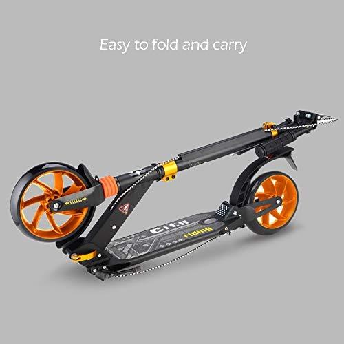 IG Patinete plegable para adultos con ruedas grandes de 200 ...