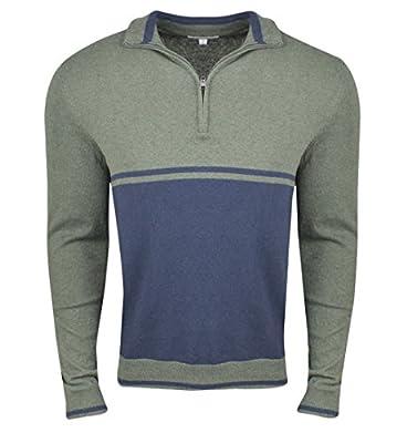 Calvin Klein- 12 GG Cotton Cashmere Color Blocked 1/4 Zip