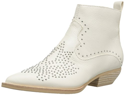 Ivory Booties - Dolce Vita Women's UMA Ankle Boot, Off Off White Leather, 7.5 M US