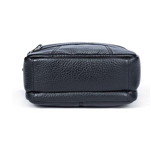 Messenger Capacity Sucastle Leather Shoulder Briefcases Men's 1 Design Bags 2 Vintage Large RRwX4