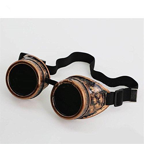 Sunglasses Men Steampunk Round Sun Glasses For Men's Hippie Vintage Retro Steam Punk Goggles - Sunglasses Clothing