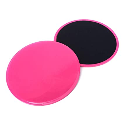 f1ddbf892 Asosmos 2 Pcs Core Gliding Discs Slider Fitness Disc Exercise Sliding Plate  for Yoga Gym Abdominal Training (Pink)  Amazon.in  Sports