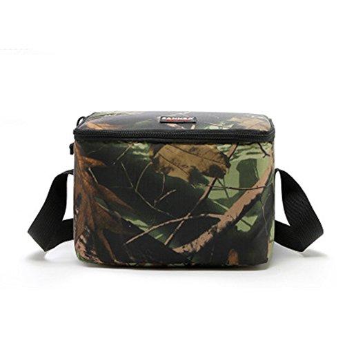 EBRICKON Camouflage Picnic Lunch Bag Thermal Cooler Bag for Food Storage Aluminum Foil Insulation Lunch Bags for Men (9 7 6.7 inch,7L) - Excursion Tailgate Cooler