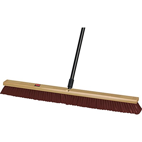 (Rubbermaid Commercial FG9B1900MARN Coarse Polypropylene and Polystyrene Hardwood Block Heavy-Duty Floor Sweep, Maroon)