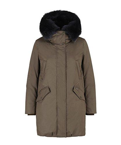 Woolrich John Rich Bros. Military Fur-Trimmed Down Parka Women Down Coats