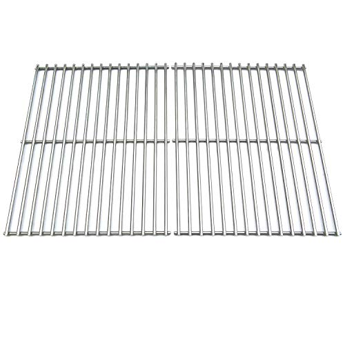 (Direct store Parts DS110 Solid Stainless Steel Cooking grids Replacement Grill Master 720-0697;Brinkmann:810-9490-0 ; Uniflame: GBC091W, GBC940WIR , GBC956W1NG-C,GBC981W ,GBC981W-C,GBC983W-C Gas Grill)