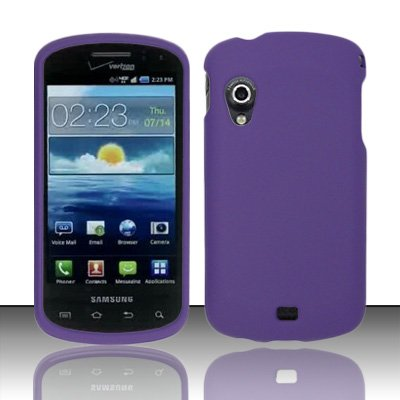 Importer520 Rubberized Snap-On Hard Skin Protector Case Cover for For (Verizon) Samsung Stratosphere i405 - Purple (Case Stratosphere)
