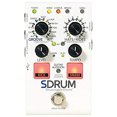 Digitech SDRUM Strummable Drums Automatic Drummer Pedal w/ FS3X Footswitch and C by DigiTech