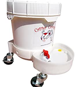 Automatic Water Bowl 3.5 Gallons By Critter Concepts, The Dog Water Dispenser that is virtually indestructible, used by dog daycares and dog pros. The last Automatic Dog Waterer that you will buy.