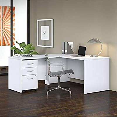 Bush Business Furniture STC008SG 60W Desk and 42W Return and and File, Storm Gray