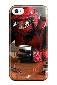Awesome Halo Taking A Break Flip Case With Fashion Design For Iphone 4/4s