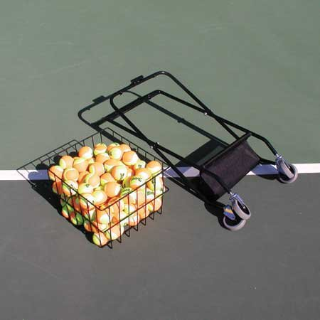 Oncourt Offcourt Mini Coach's Cart - 150 Ball Capacity/Portable Traveling Cart/Comes with Removable Divider