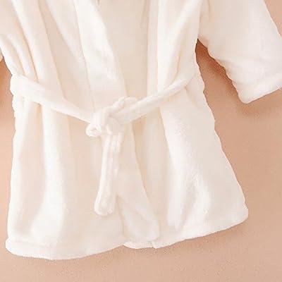 Baby Children Bath Robe with Hood Velvet Bathrobe for Boy Girl Plush Pajama 0-7 Years Old