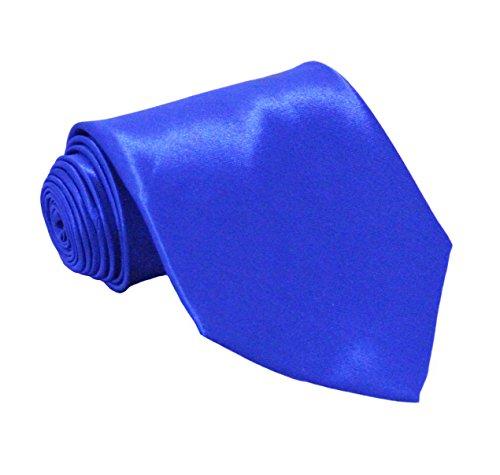 Royal Blue Mens Tie - Soophen NEW Mens Necktie SOLID Satin Neck Tie Royal Blue