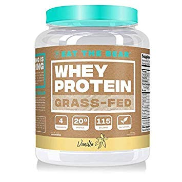 Eat the Bear, Naturally Grass Fed Whey Protein Powder, Keto Friendly Protein Powder, 115 Calories, All Natural, Gluten Free 25 Servings, Vanilla