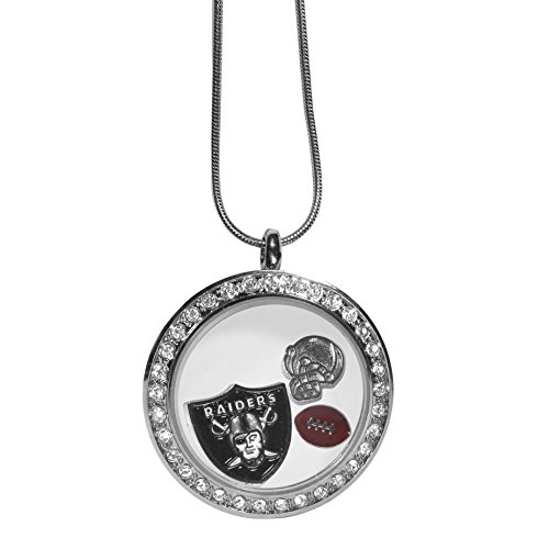 Siskiyou NFL Oakland Raiders Womens Locket Necklace, -