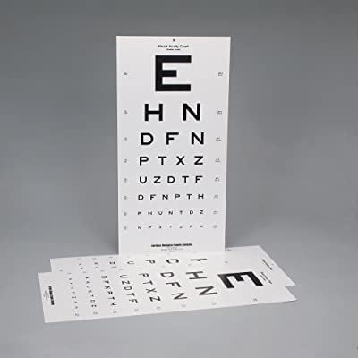 Snellen Eye Examination Chart, Pack of 3