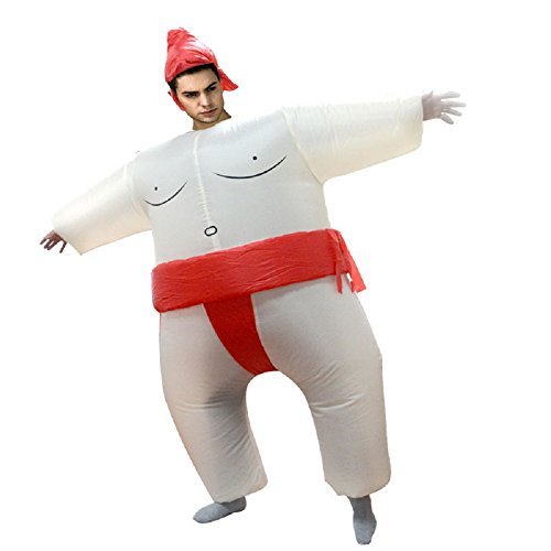 Inflatable Adult Sumo Wrestler Wrestling Suits Halloween Costume, One Size Fits Most (Adult, -